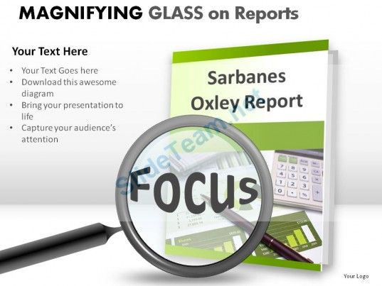 Magnifying Glass On Reports Powerpoint Presentation Slides