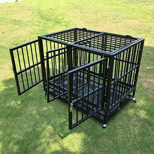 Sliverylake Xl 37 Dog Cage Crate Kennel With Divider Heavy Duty