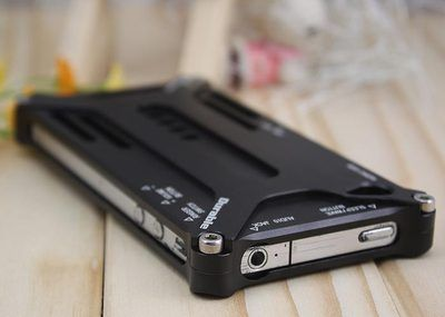 Black Cool Aluminum Metal Transformer Bumper Hard Case for All iPhone 4 4S 4GS $8.50