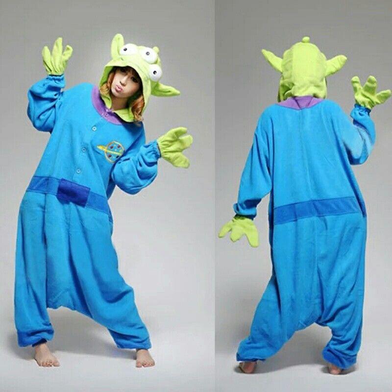 Unisex Fancy Dress Costume Toy Story Aliens Cosplay Costume Sleepwear MX