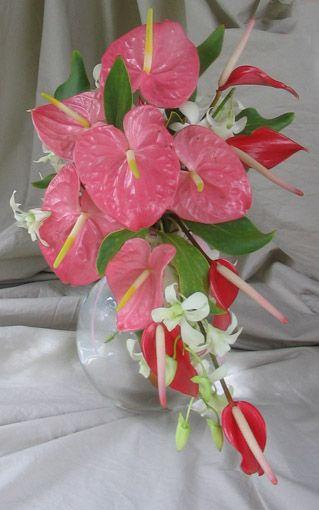 Alii Akala Hawaiian Wedding Bridal Bouquet