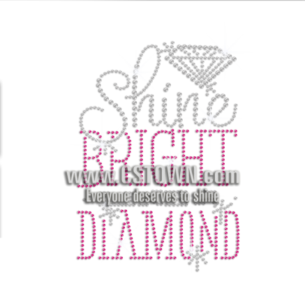 Shine Bright Diamond Hotfix Rhinestone Transfer