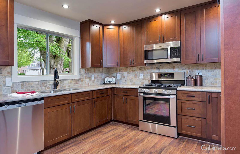 Shaker Rta Maple Brandywine Farm House Living Room Kitchen Remodel Shaker Cabinets