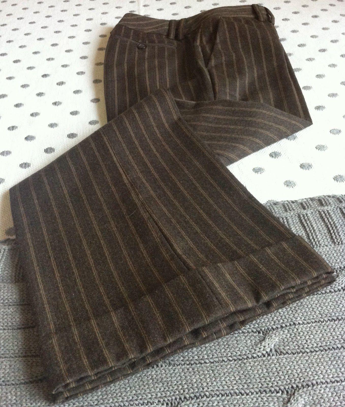 #pantalón #traje #massimodutti #marrón #talla 36 #menganitaycitranita. Más información en facebook Menganita y Citranita