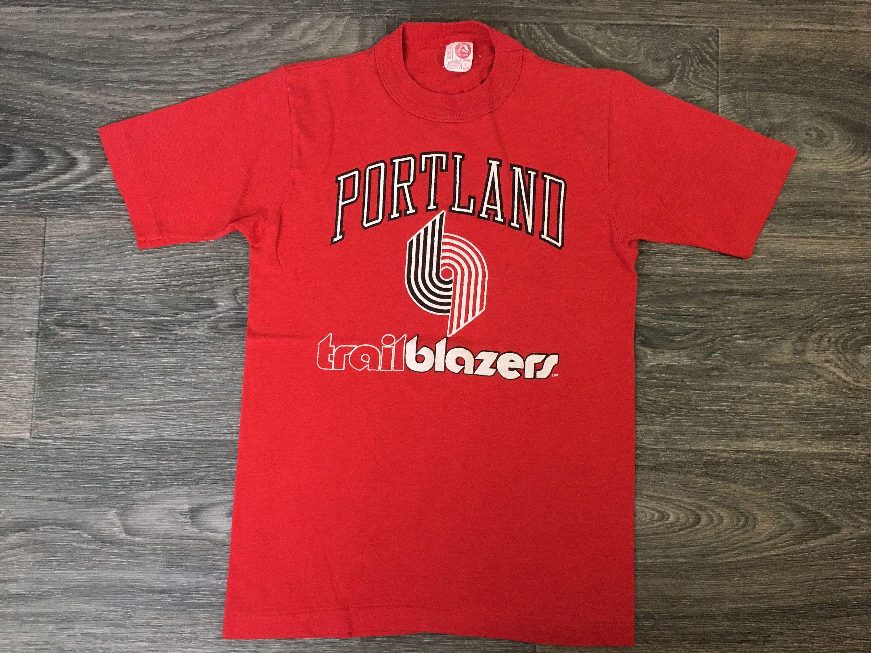 17c1a68cdba Portland Trail Blazers Kids Shirt Rip City 80s Vintage Tshirt Single Stitch  Artex Tag Nba Usa Soft Basketball L Tee by sweetVTGtshirt on Etsy