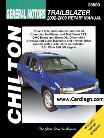 2002 2009 chevrolet trailblazer gmc envoy chilton repair manual rh pinterest com manual gmc envoy 2002 español gmc envoy 2002 service manual