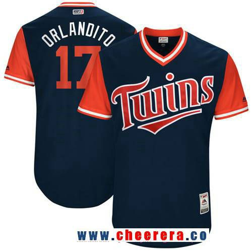 ace24afed Men s Minnesota Twins Jose Berrios -Orlandito- Majestic Navy 2017 Little  League World Series Players Weekend Stitched Nickname Jersey