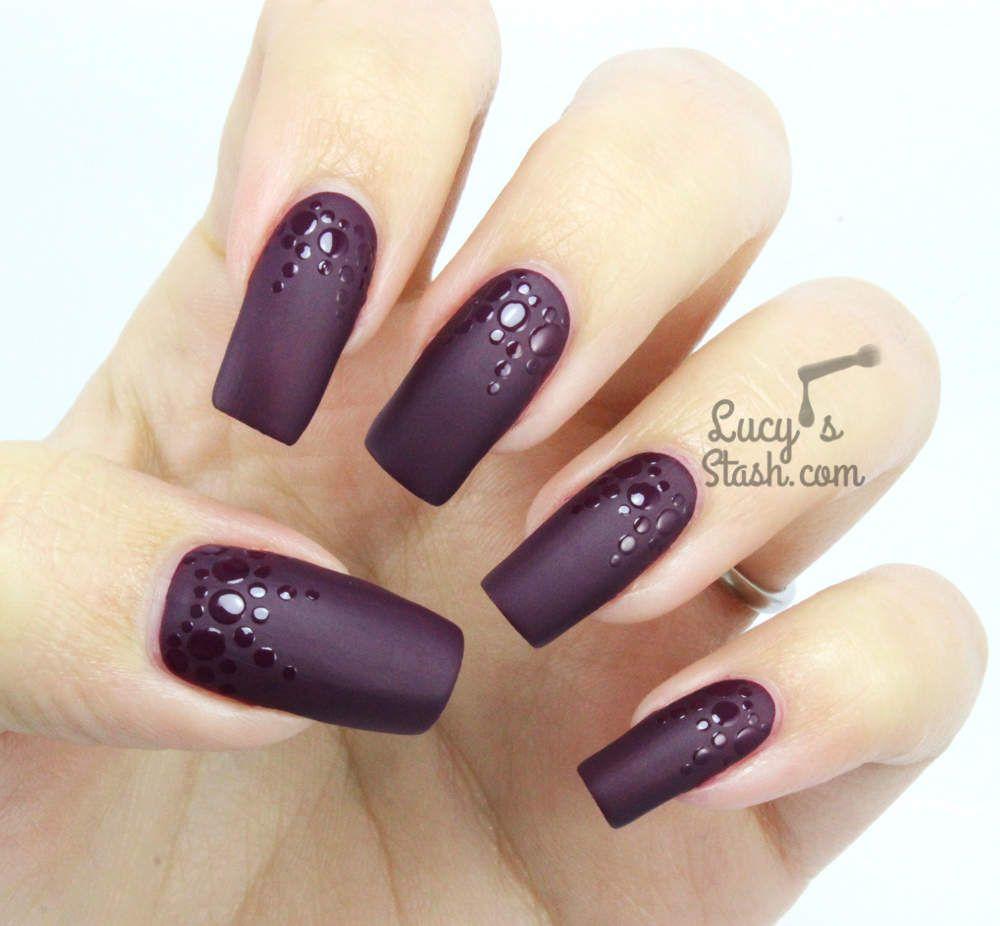 Matte & Glossy Dotticure with Rimmel Velvet Matte Purple Opulence ...