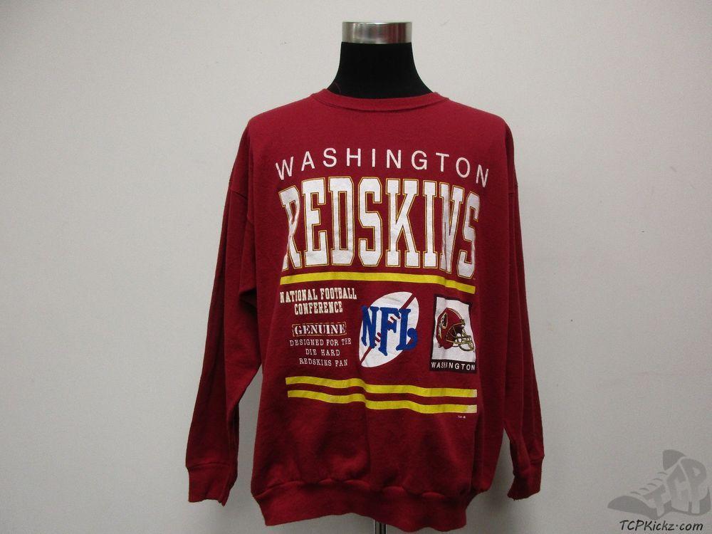new style 5a770 7e5ef Vtg 90s Signal Washington Redskins Crewneck Sweatshirt sz ...