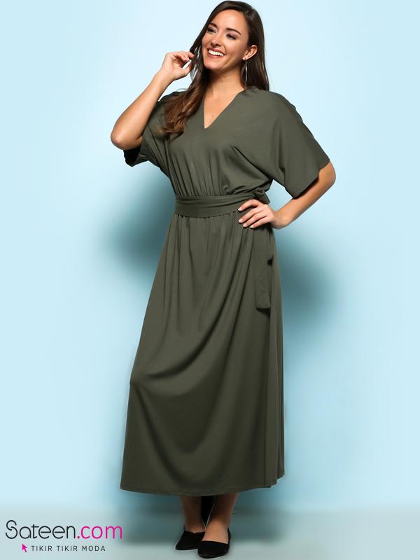 102 105 Yarasa Kol Uzun Penye Elbise Elbise Elbise Modelleri Kadin
