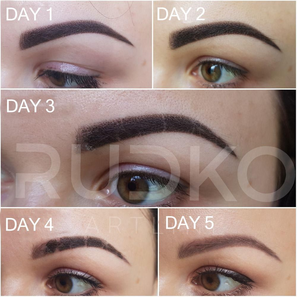Powder Permanent Makeup Eyebrows, Aftercare and Healing