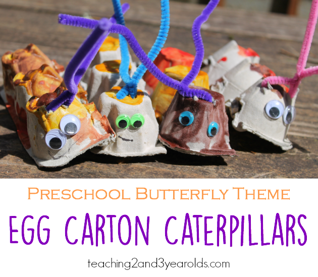 Egg Carton Caterpillar Craft for Toddlers and Preschoolers #creativeartsfor2-3yearolds