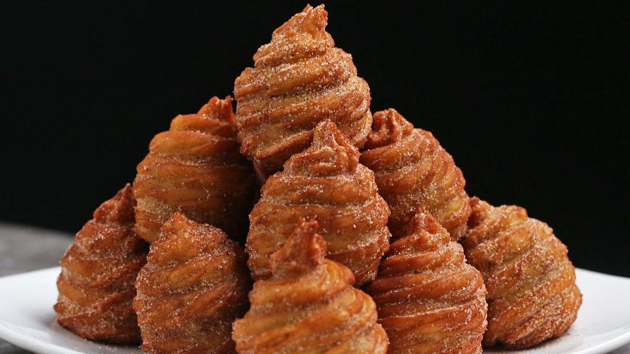 Molten Churro Bombs - YouTube | Food, Desserts, Sweet recipes