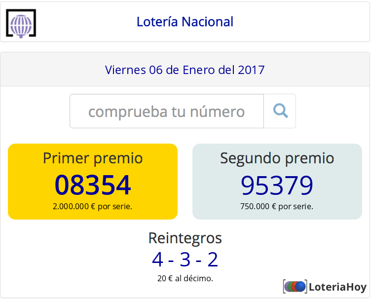 Resultados y comprobación de tu décimo para el sorteo de #LoteriaNiño 2017