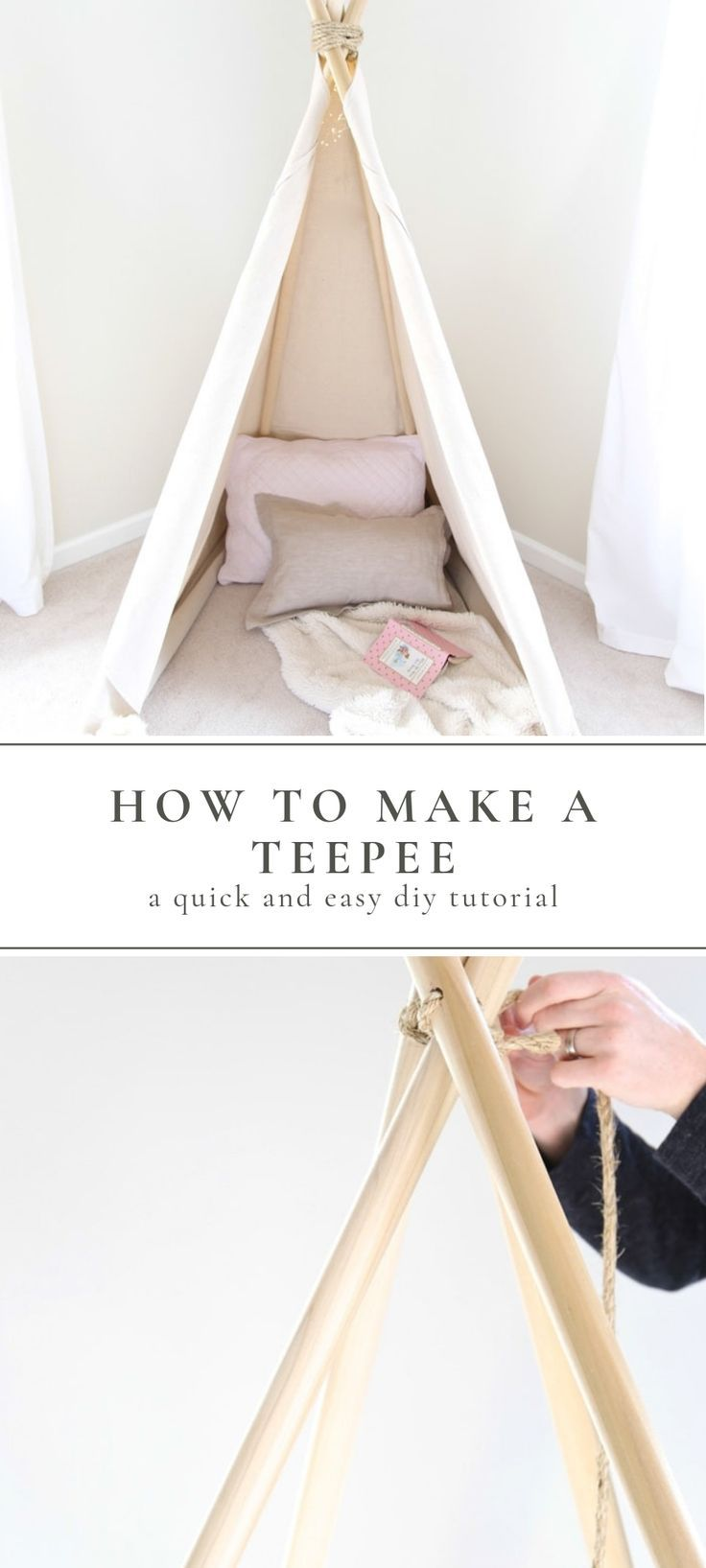 How to Make a Teepee Tent an Easy No Sew Project in less than an hour! -   24 diy Kids teepee ideas