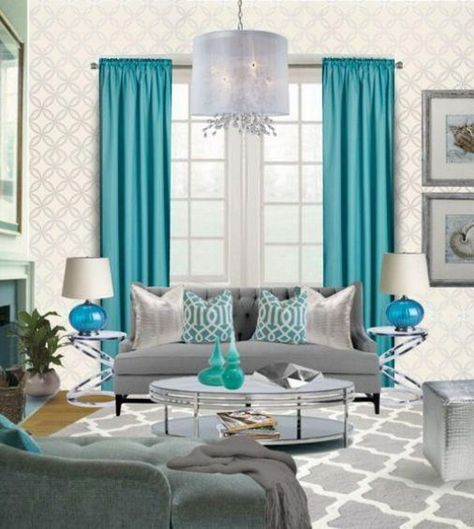 mesmerizing grey teal living room ideas | 40 Beautiful Living Room Designs | Living room turquoise ...