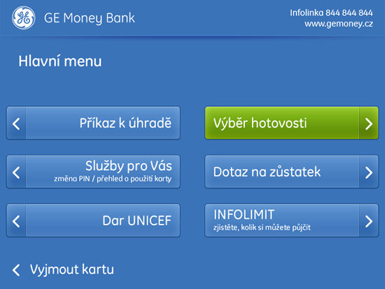 Novy Design Bankomatu GE Money Bank