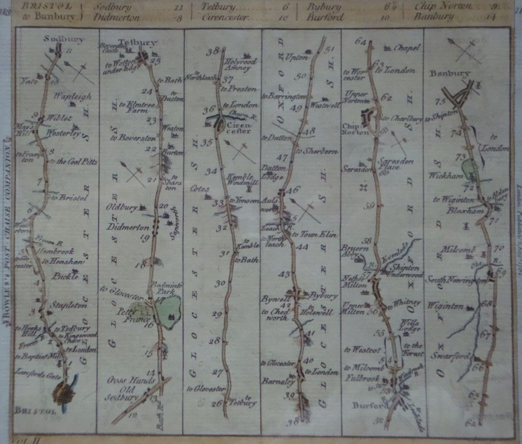 Linear map Travel in the 18th century