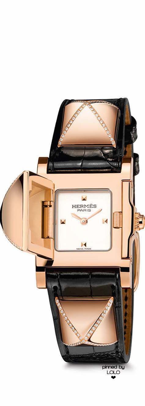 Hermes watches  how a humble dog collar was transformed into the secret  Medor watch   Hermes watch, Gold and Leather fd9d5cfc4d2