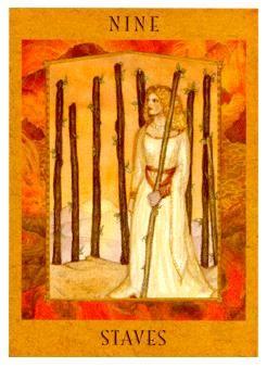 9 of Staves/wands...The Goddess Tarot Deck | Tarot. Goddess