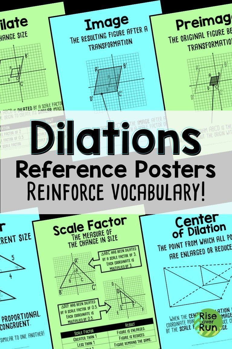 Dilations and Similarity Word Wall Posters   Math posters high school [ 1152 x 768 Pixel ]