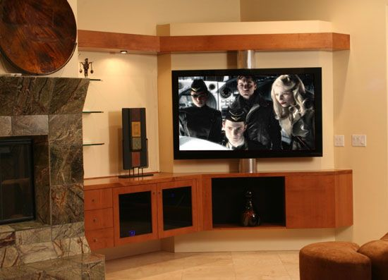 Custom Entertainment Centers Phoenix By Kendall Wood Design Inc Arizona 602 252 3844 Meuble Tv Angle Deco Maison Meuble