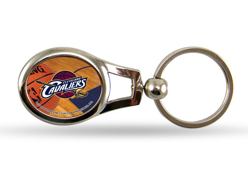 Cleveland cavaliers oval keychain sunset key chains