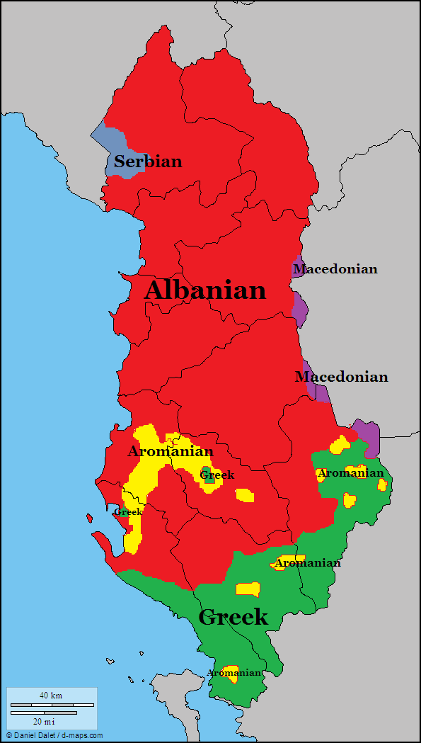 Albania Languages Maps Languages Pinterest Albania - Albania map