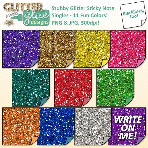Stubby Sticky Note Singles Clip Art School Supplies Diy Notebook School Supplies Sticky Notes