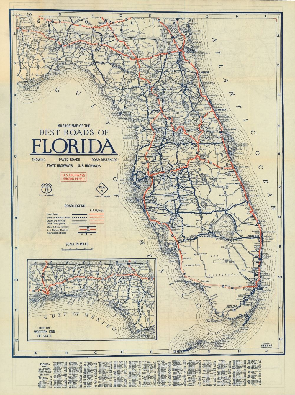Florida Memory Clason S Guide Map Of Florida C 1927 History Of
