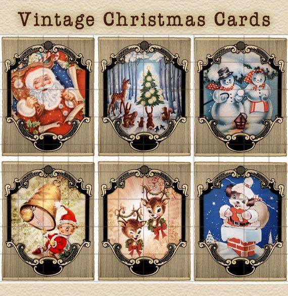 vintage cards Printable christmas