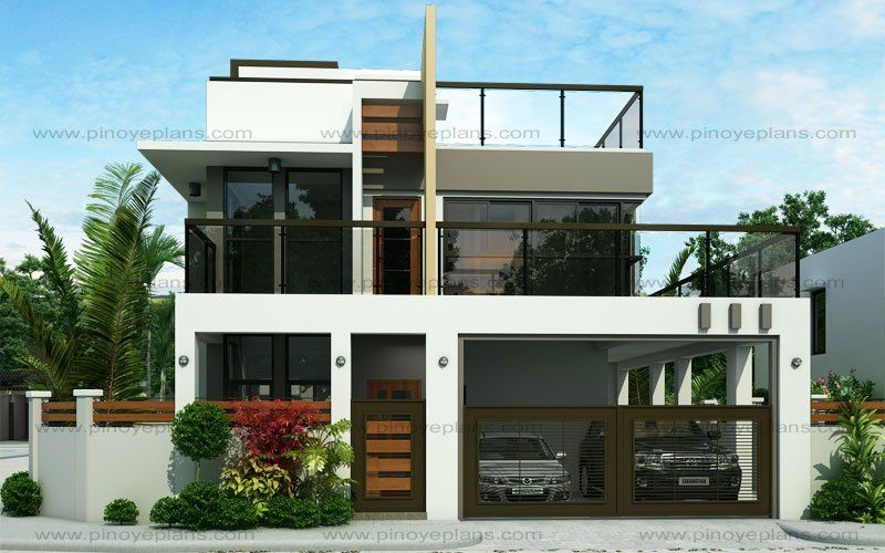Ester model is a four bedroom two story modern house design which