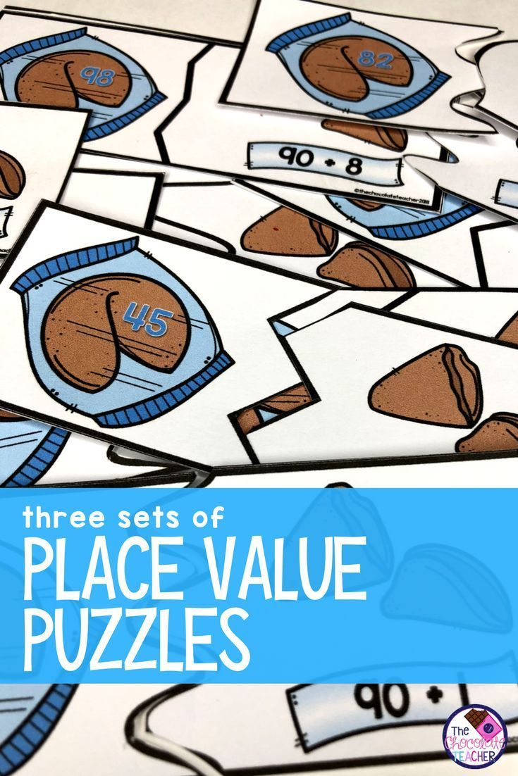 Place Value Puzzles | Expanded form, Number words and Math
