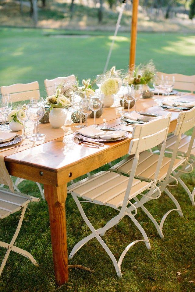 Long Farmhouse Table - rustic wedding, wedding venue, farm