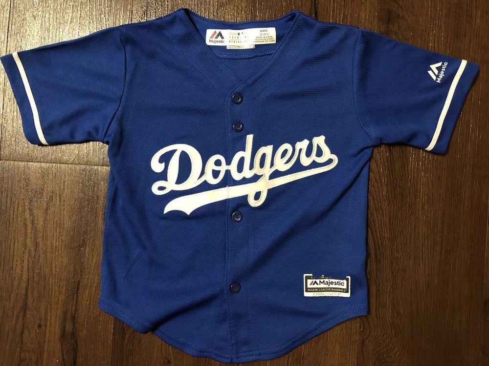 Dodgers Baseball Jersey Size 3t Kids Toddler Blue MLB Majestic Baseball  Shirt   22.49 End Date b145cd530fb