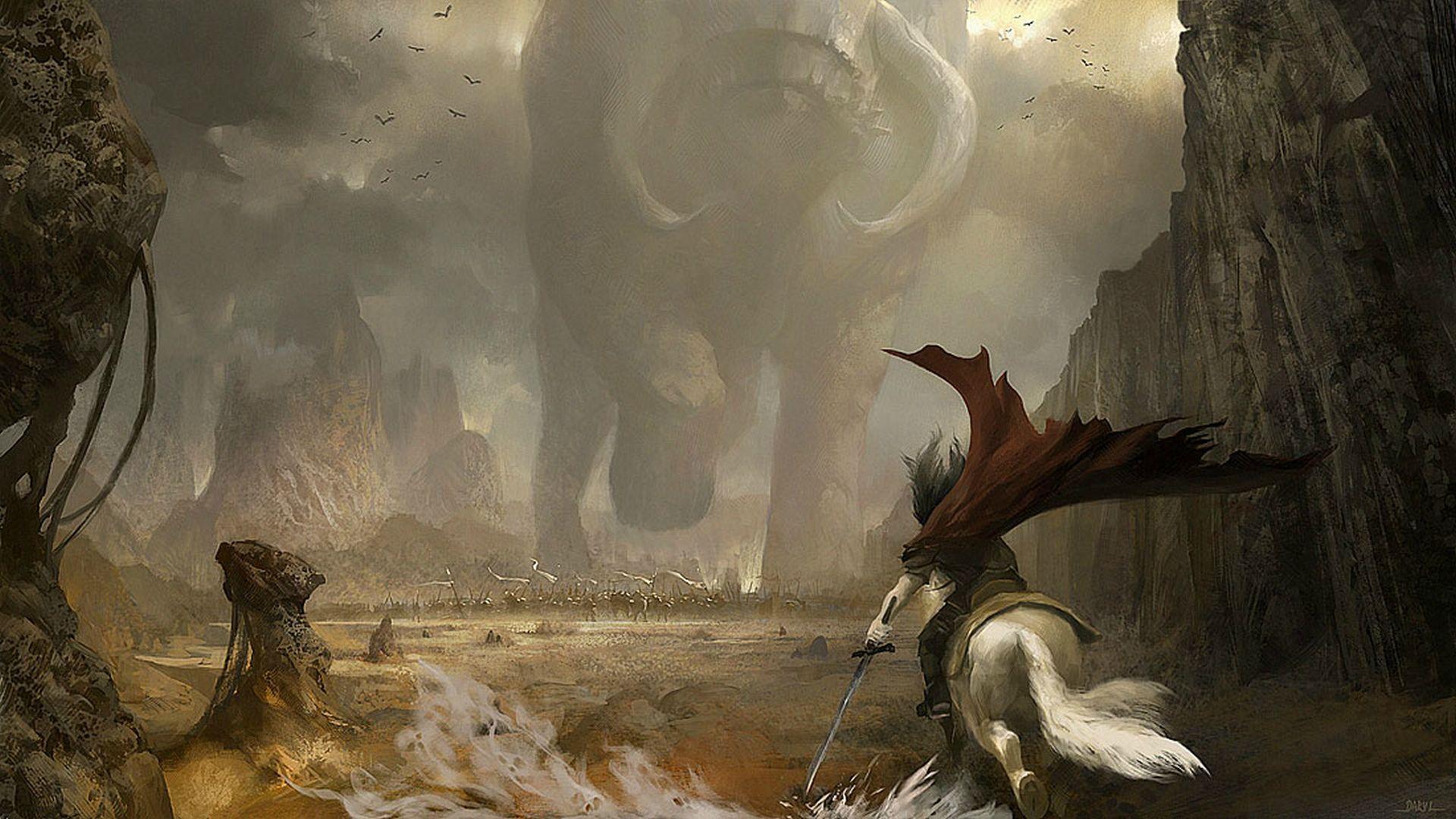 Giant Monster Wallpaper In 2019 Fantasy Art Fantasy