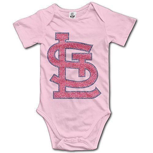 6225f1193bb7 BADOU St. Louis Cardinal For 6-24 Months Toddler Short Sleeve Romper  Jumpsuit 6 M Pink