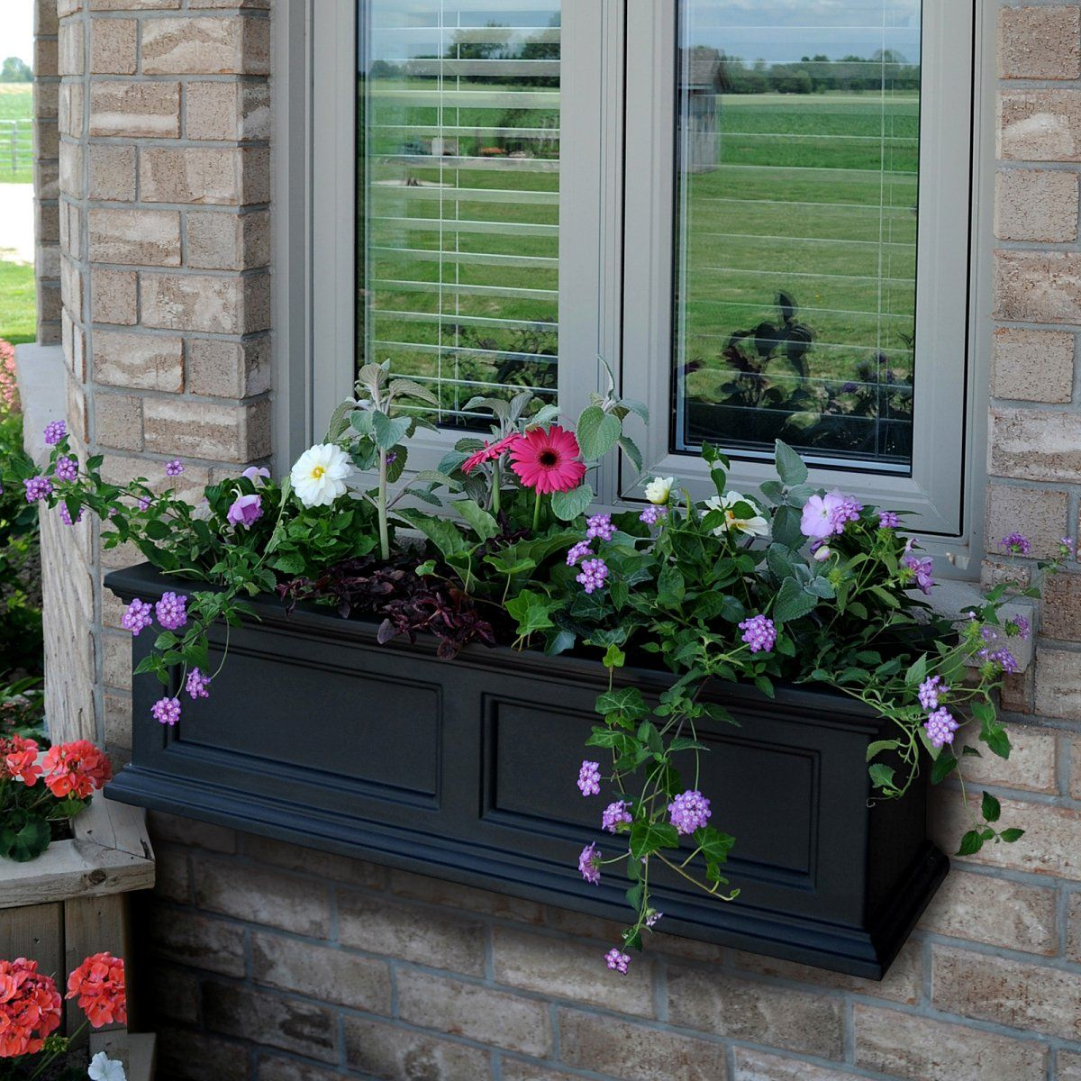 Window box ideas without flowers  window box ideas  boites a fleurs  pinterest  planters gardens