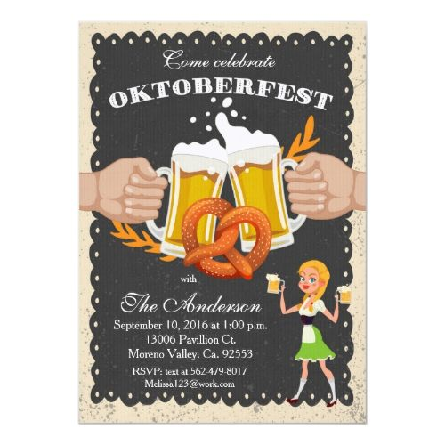 Oktoberfest/ Octoberfest Beer Party Invitation | Zazzle.com #octoberfestfood