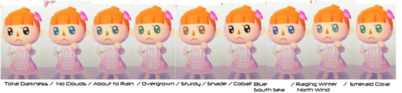 Contact Color Guide Animal Crossing S Eye