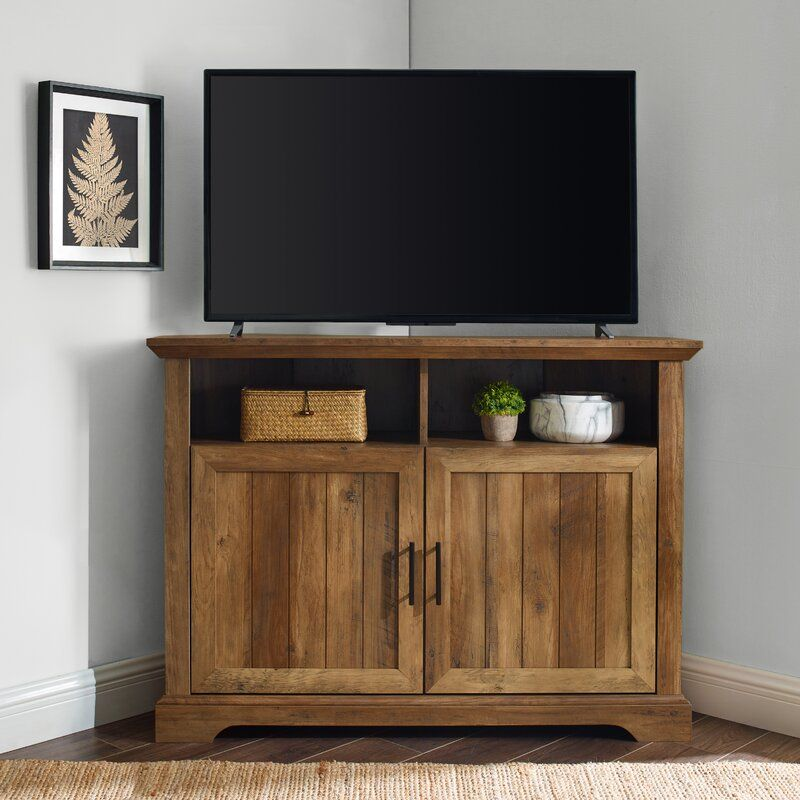 Charlton Home Tailynn Corner Tv Stand For Tvs Up To 50 Inches Reviews Wayfair Corner Tv Stand Corner Tv Tv Stand Corner tv stands for 50 inch tv