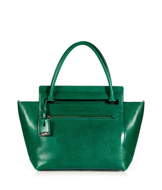 Jil Sander Emerald Leather New Malavoglia Bag Green Handbag Purse Pink And