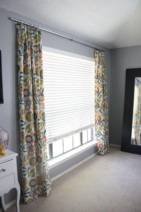 easy diy conduit curtain rod. Black Bedroom Furniture Sets. Home Design Ideas