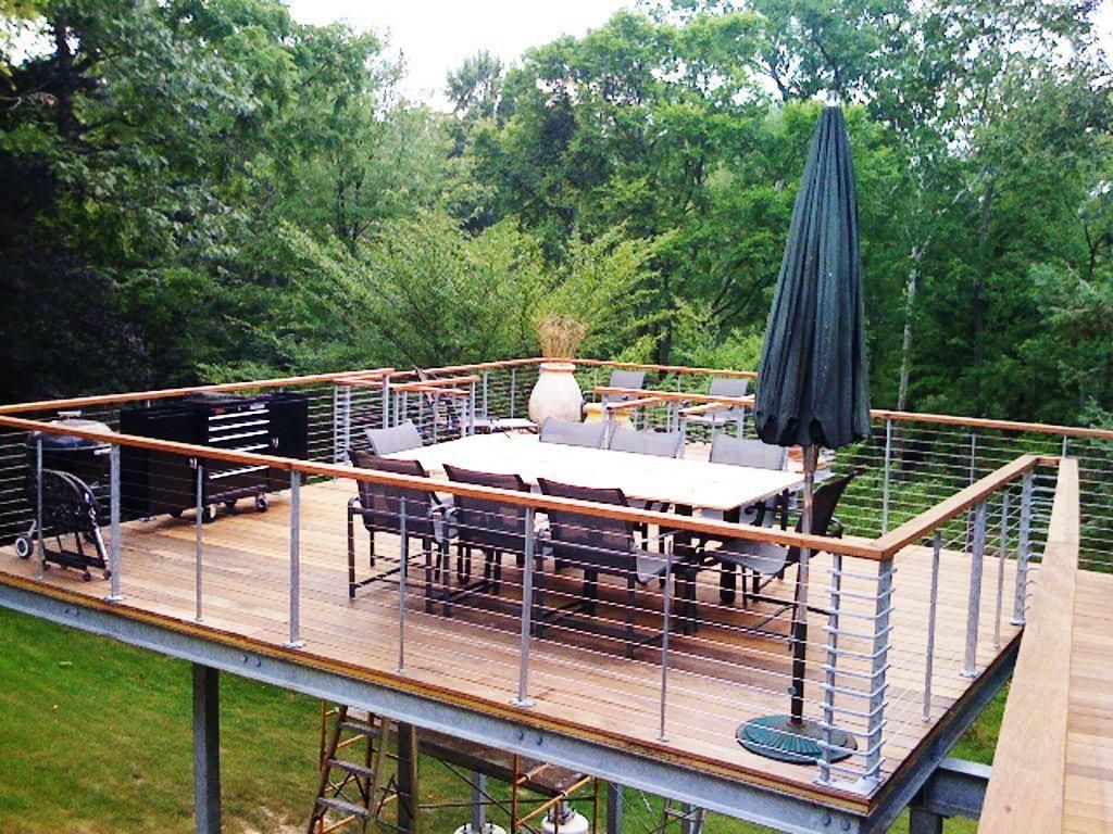 Modern Deck Railing Outdoor  All in One Home Ideas