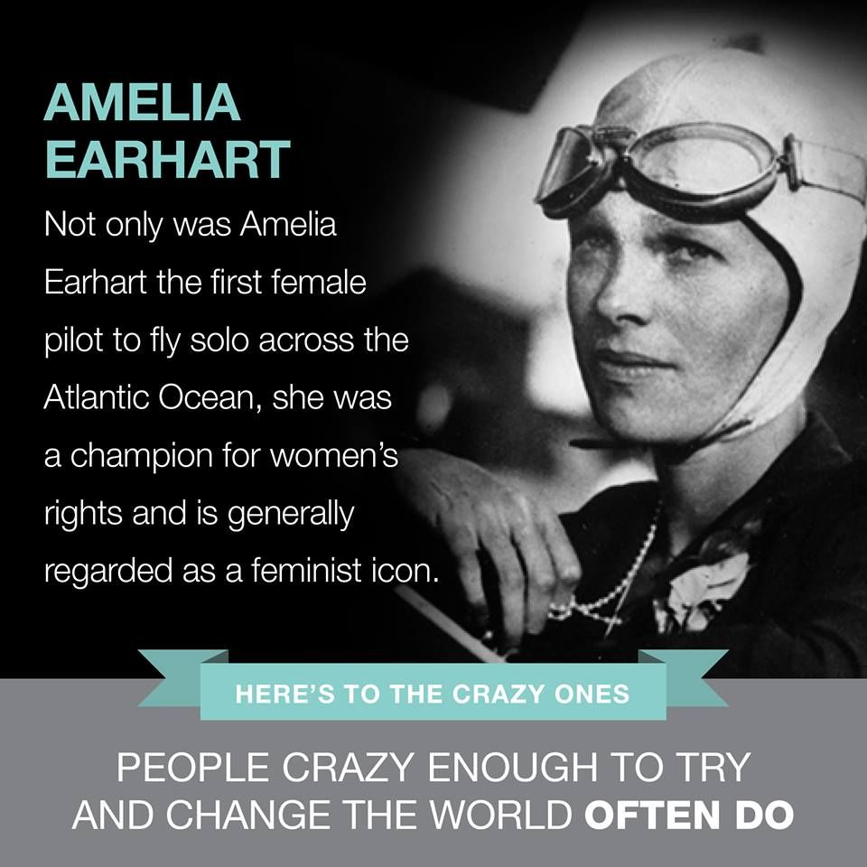 Amelia Earhart | Famous failures, Change the world