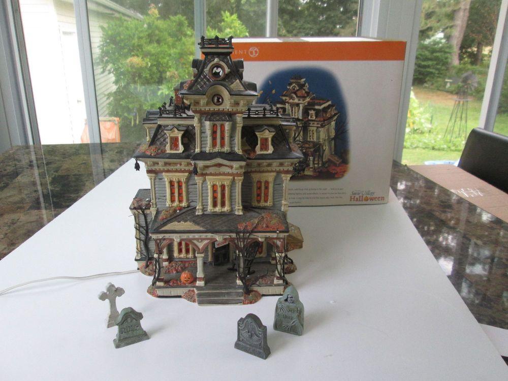 Department 56 Snow Village Halloween Grimsly Manor Lit House