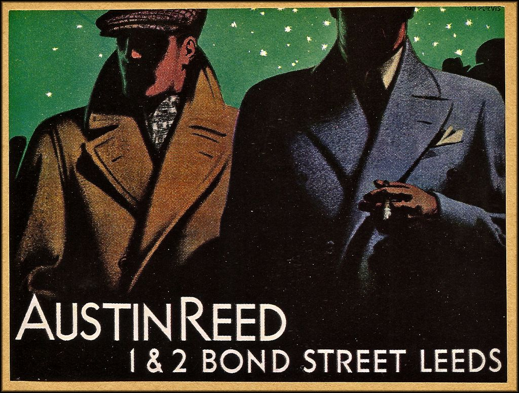 Tom Purvis Vintage Austin Reed Posters Austin Reed Purvis Poster Prints