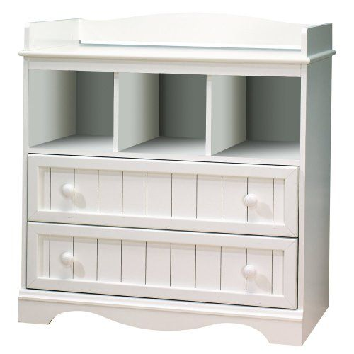 South Shore Savannah Collection White Baby Changing Table Dresser FSC  Certified