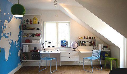 Love a desk facing a window.