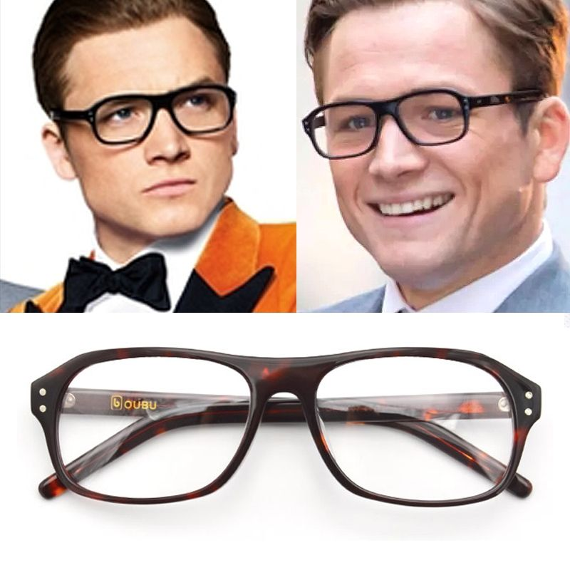 5e50e19632 KINGSMAN fashion square eyeglasses frames Vintage optical myopia women and  men prescription glasses frame sun lens